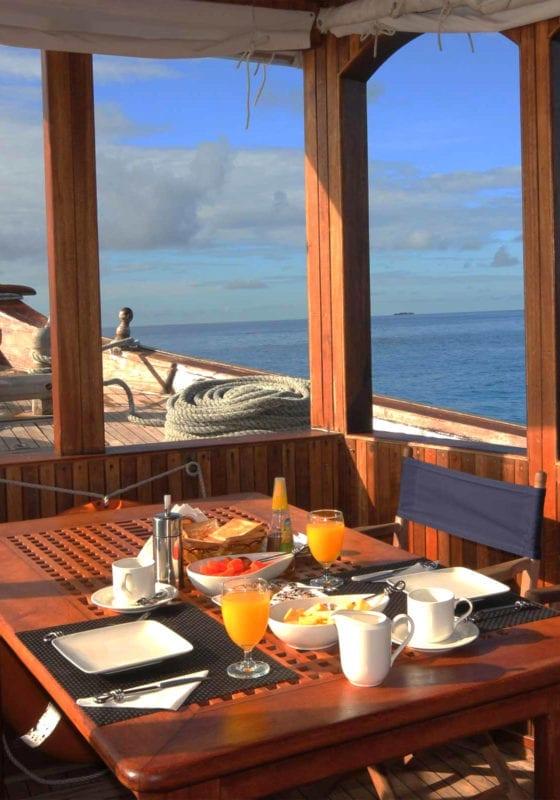 Dhoni Stella Yacht Interior Dining