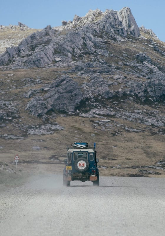 4x4 driving in the Falkland Islands