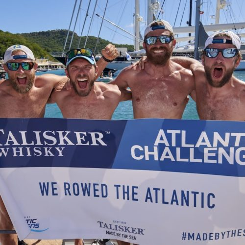 Latitude 35 team complete the Atlantic Challenge in English Harbour, Antigua