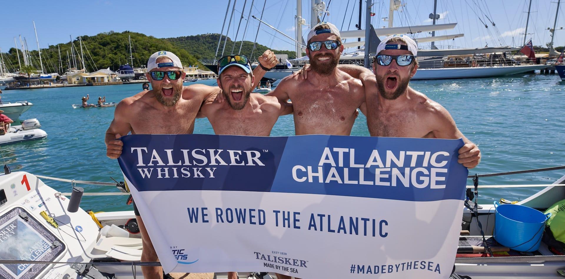 Latitude 35 team complete the Atlantic Challenge in English Harbour, Antigua