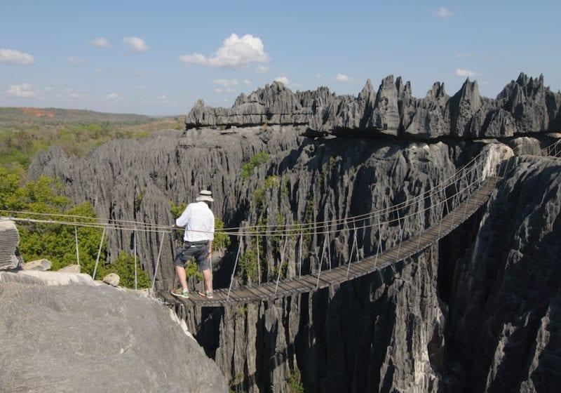 Limestone Tsingy Bridge in Madagascar