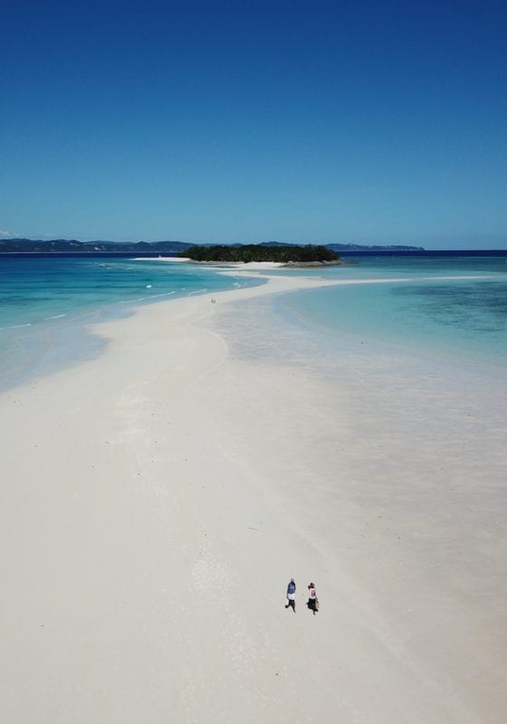 Madagascar Clear Waters and White Spit of Sand at Nosy Iranja