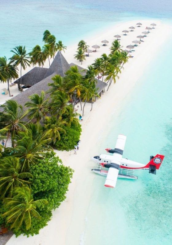 Maldives Resort, Arrival by Seaplane