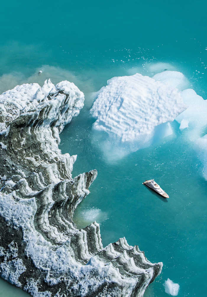 Guest involvement on a luxury yacht in Antarctica with Marine research