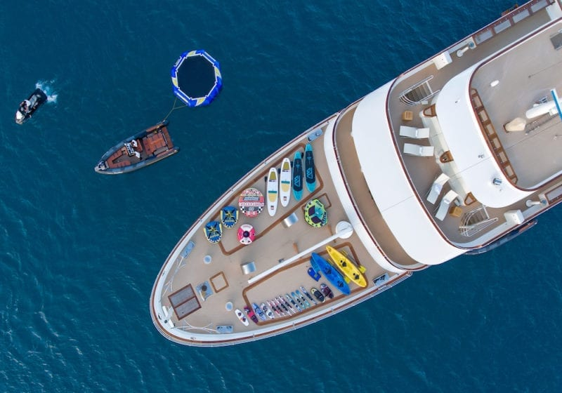 Sherakhan expedition yacht selection of toys