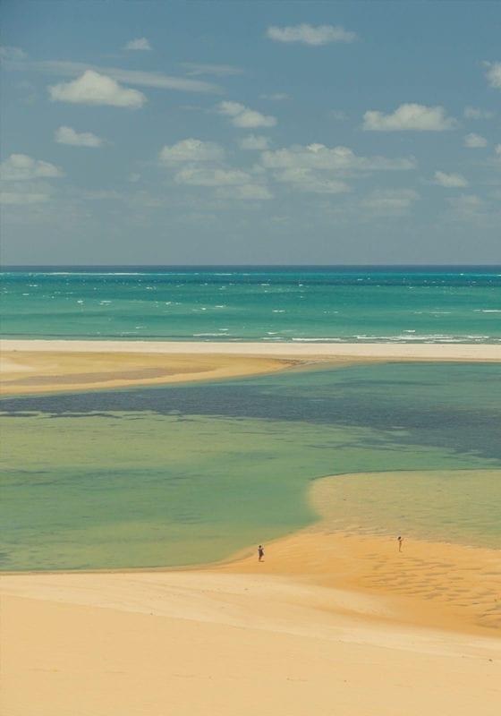 Aerial View Beach in Bazaruto Archipelago Mozambique