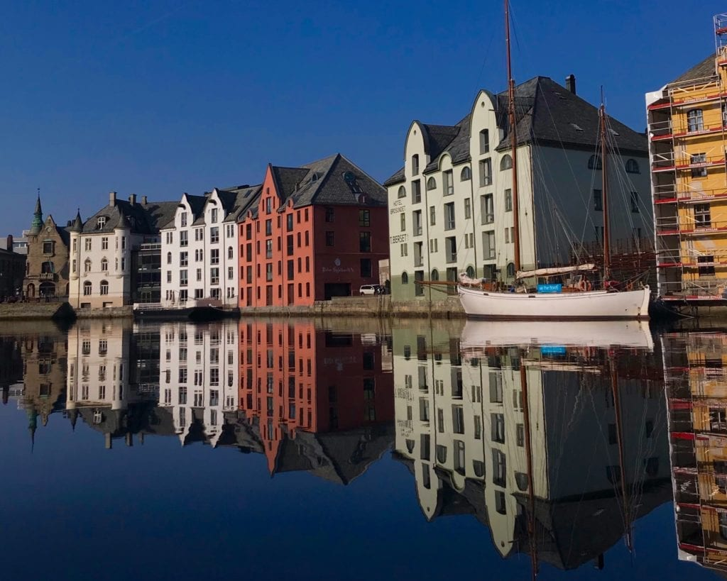 Alesund from the Water in Norway