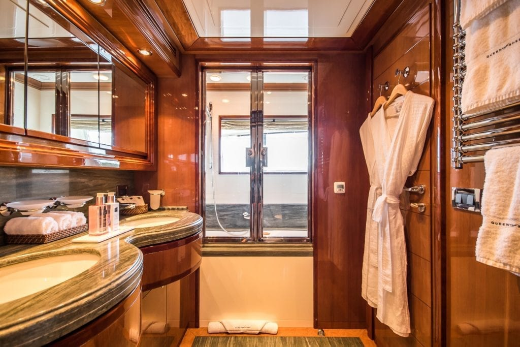 Bathroom Interior on yacht Queen of Sheba