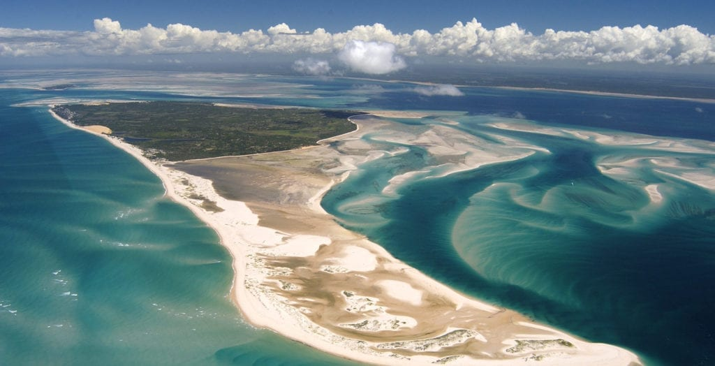 Benguerra North Point Aerial View Bazaruto Archipelago in Mozambique
