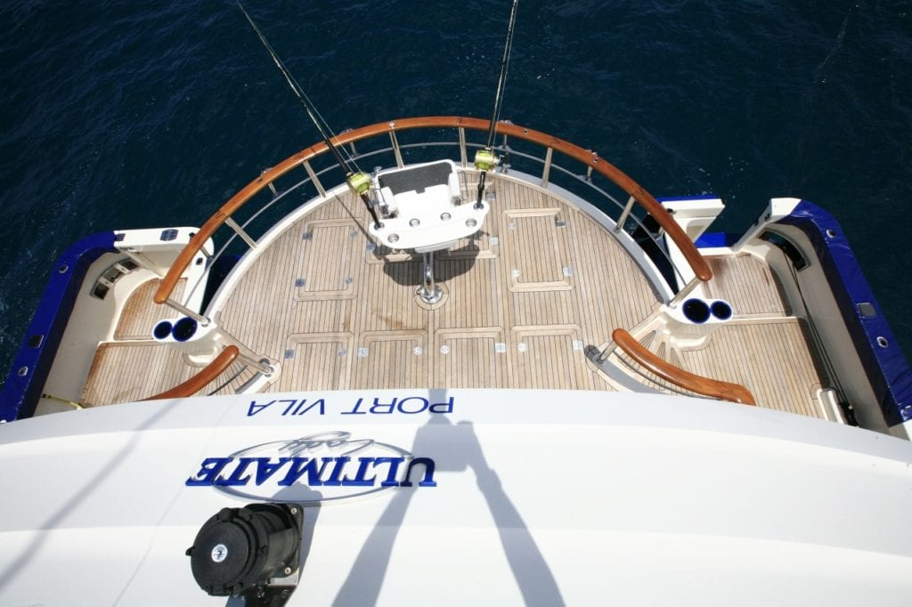 Fishing Equipment on Deck of Yacht Ultimate Lady