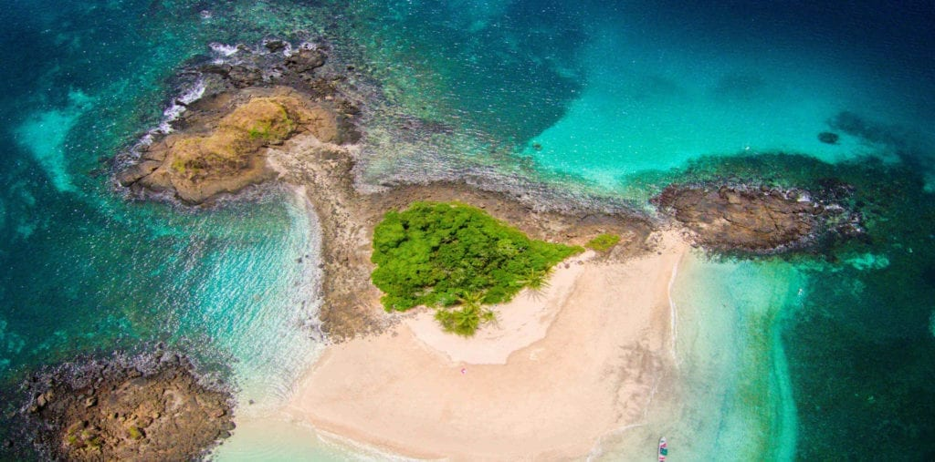 Islas Secas Islands Panama Coast Sea Aerial View