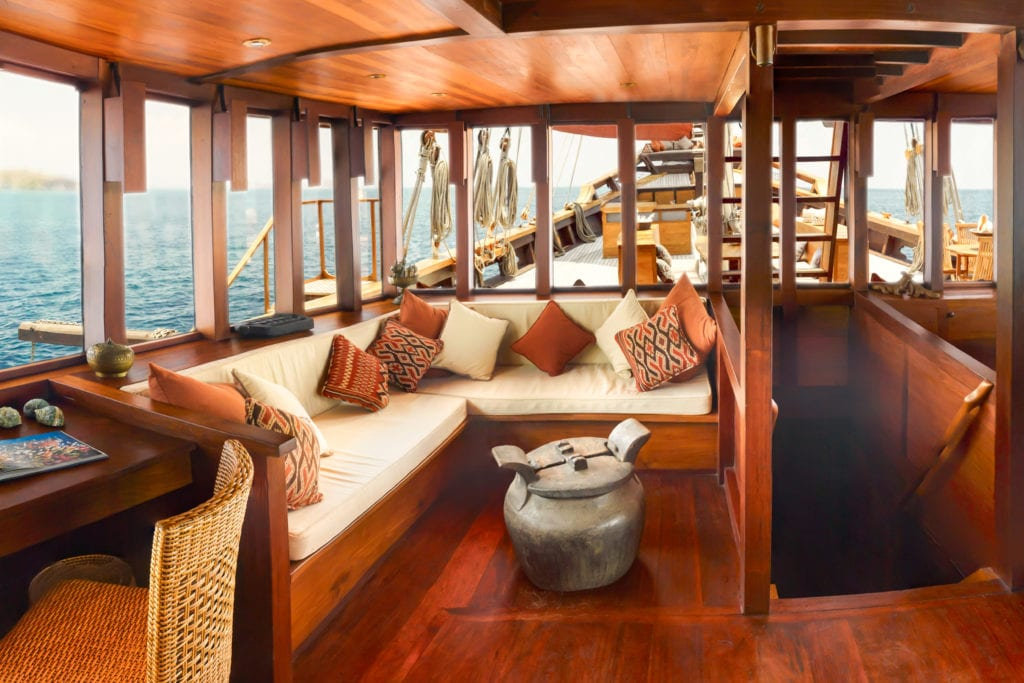 Interior Seating Lounge Area Yacht Si Datu Bua