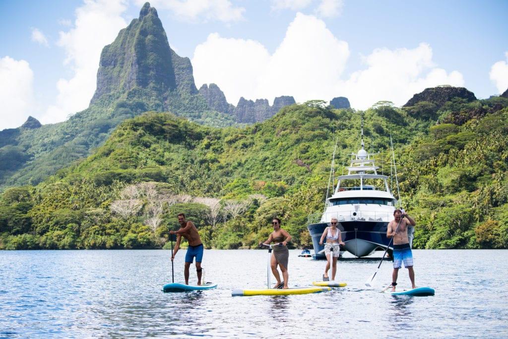 Paddleboards on Ultimate Lady Yacht