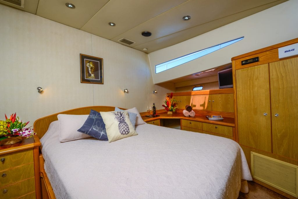 Port Master Suite of Ultimate Lady Yacht