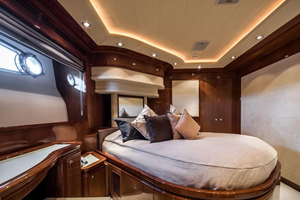 Queen of Sheba Yacht Bedroom interior