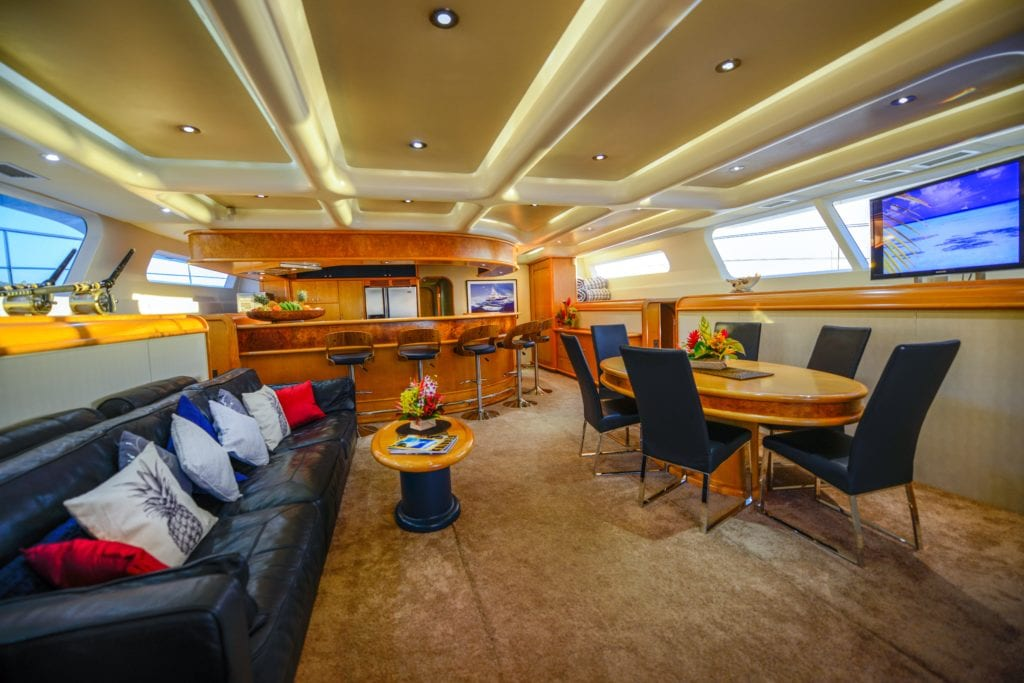Saloon Interior Dining Lounge Area of Ultimate Lady Yacht