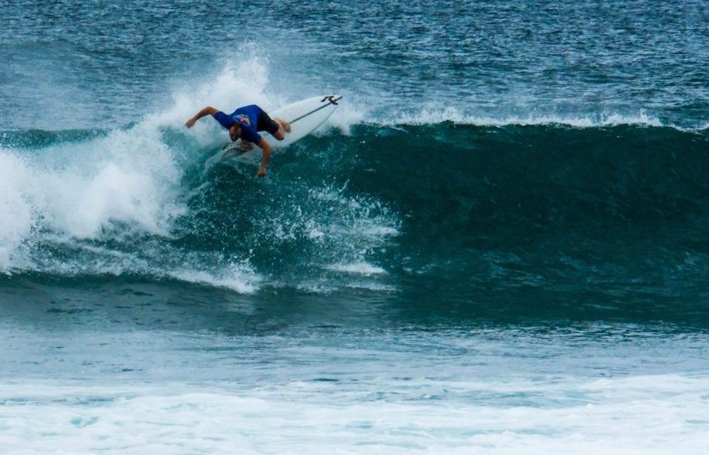 Surfing the Break at Hikkaduwa in Sri Lanka