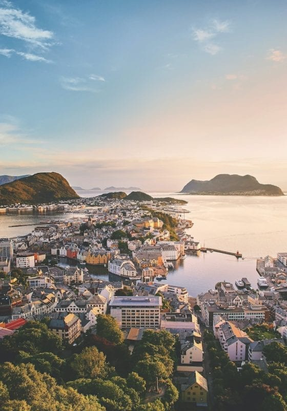 Alesund Viewpoint city View Norway