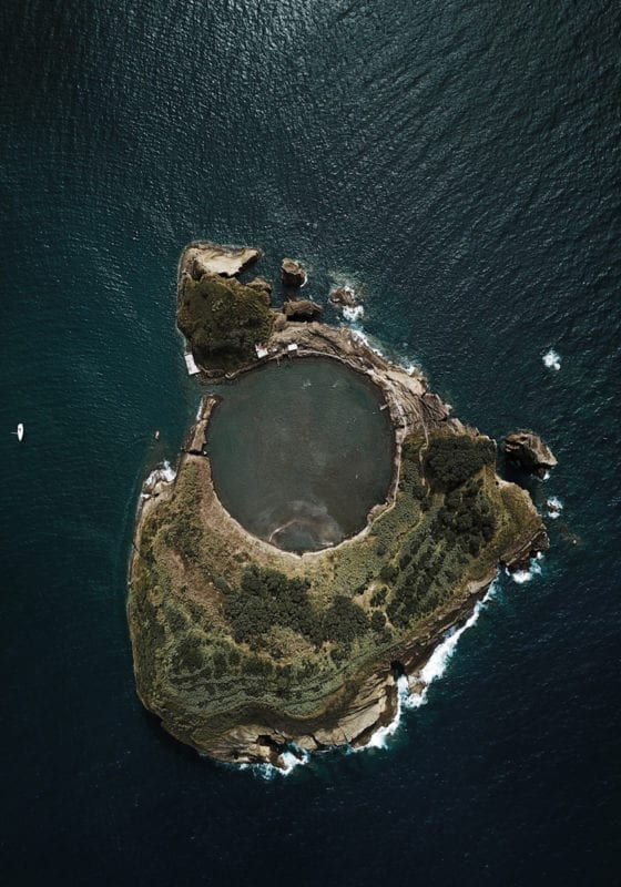 Crater island in Azores