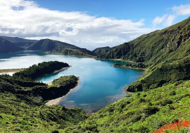 Lagoon in Azores islands