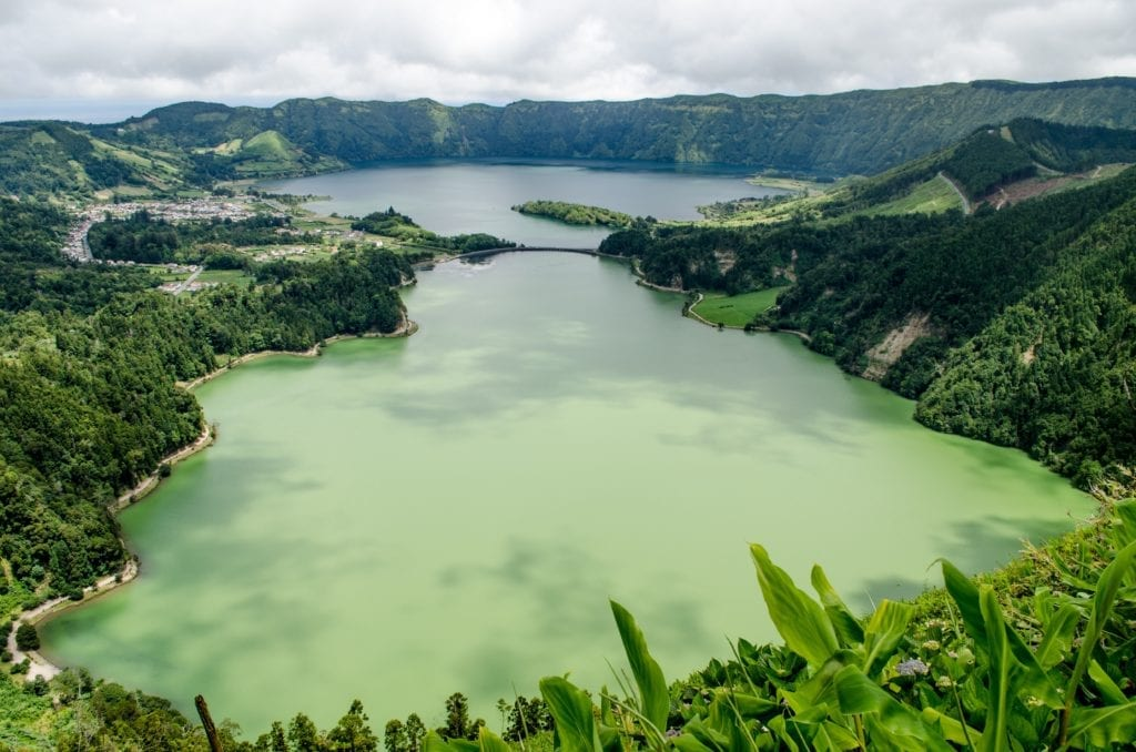 Emerald Lake in the Azores