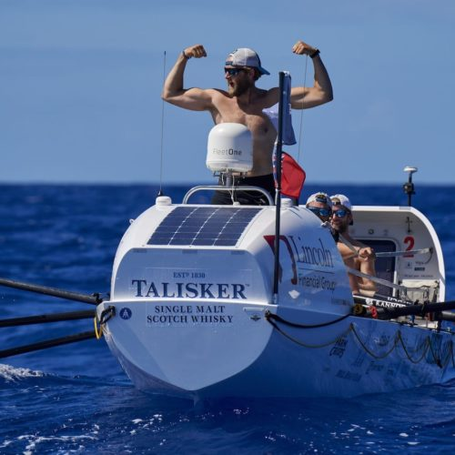 Jimmy and team Latitude 35 approaching the end of Talisker Whiskey Atlantic Challenge