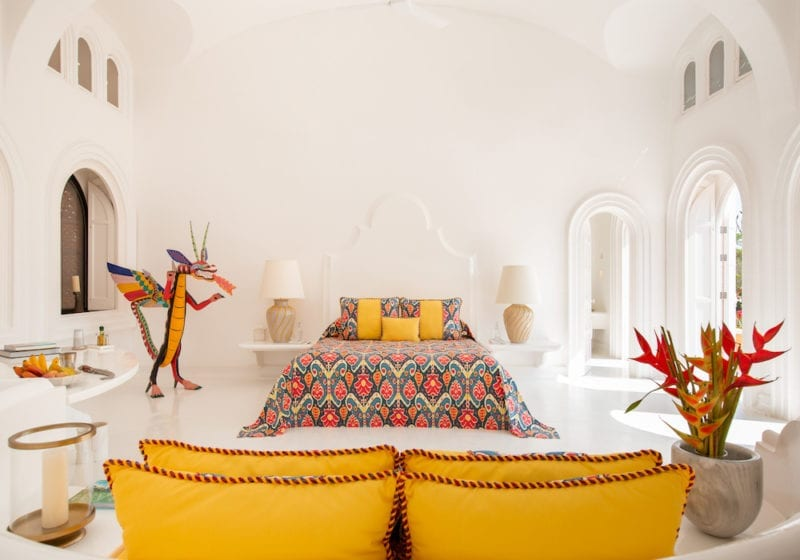 Cuiximala boho chic bedroom in Mexico