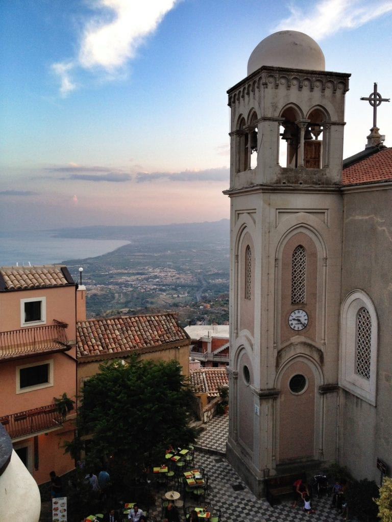 Town Castelmola Sicily Italy