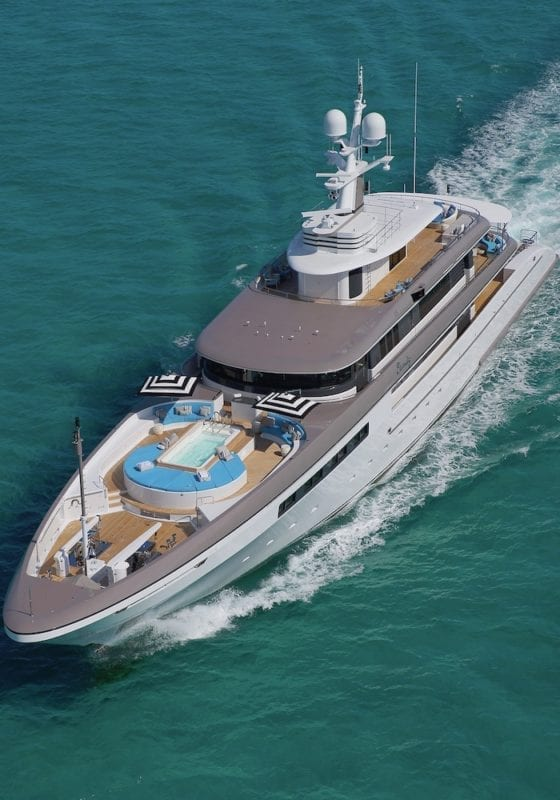 Eternity Aerial Image Yacht In Motion