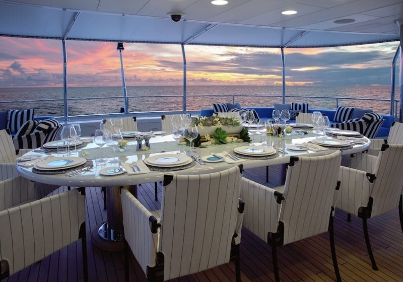Eternity Open Air Dining Aft Deck Yacht