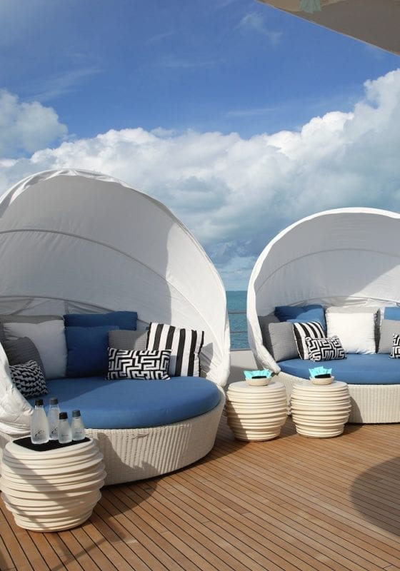 Eternity Seating Pods on the Aft Deck
