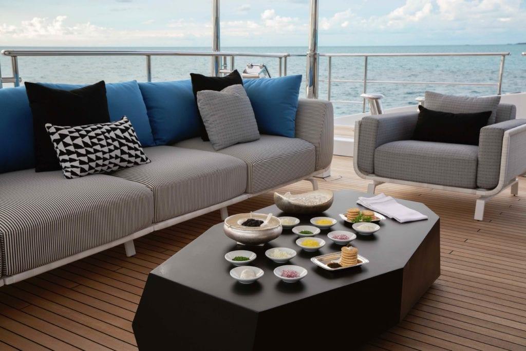 Eternity Yacht External Seating Lounge Area Sundowners