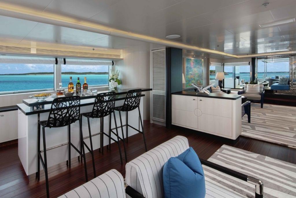 Eternity Yacht Interior Bar Area