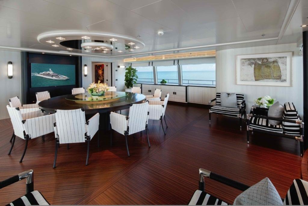 Eternity Yacht Interior Dining Area
