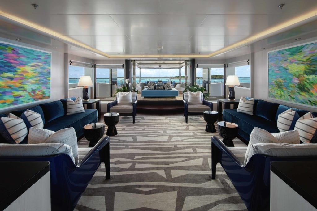 Eternity Yacht Interior Lounge Seating Area