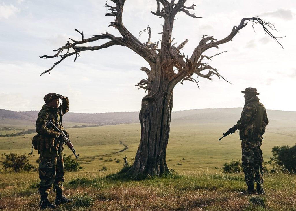 Trained Field Rangers on duty in the Borana Conservancy, Kenya