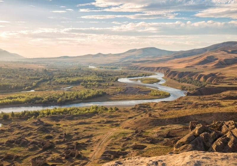 river valley aerial georgia