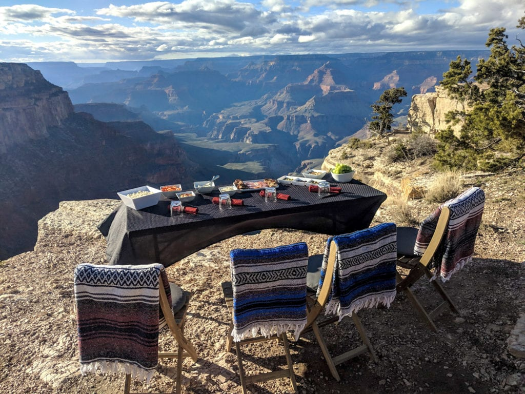 Lunch over Canyons in Utah