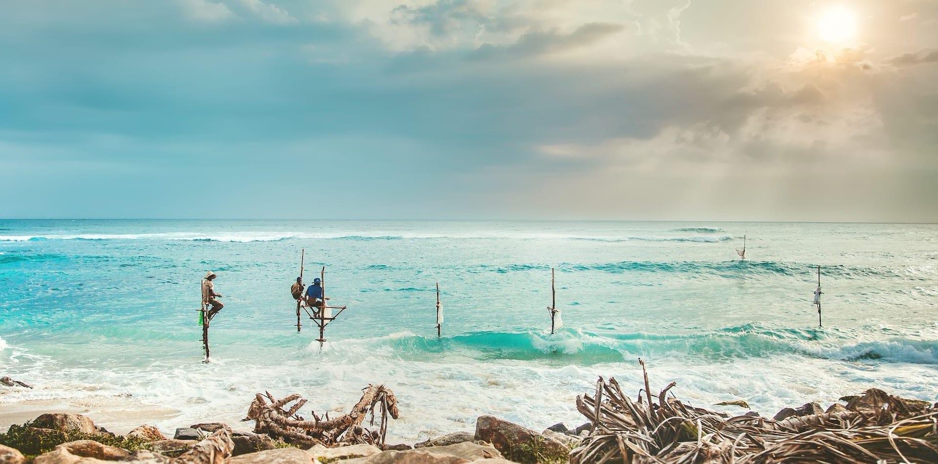 Hero Hikkaduwa Bay Fisherman Sri Lanka