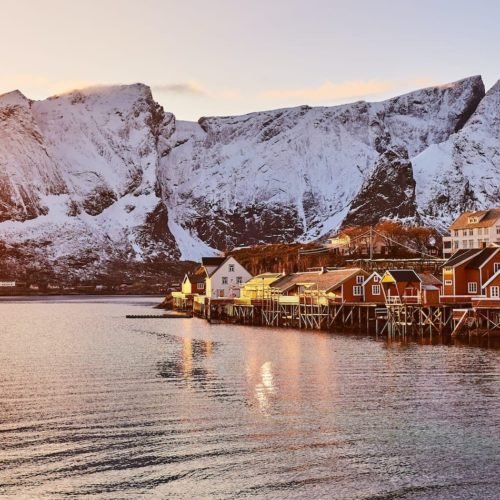 Hero Image Lofoten Islands at Sunset Norway