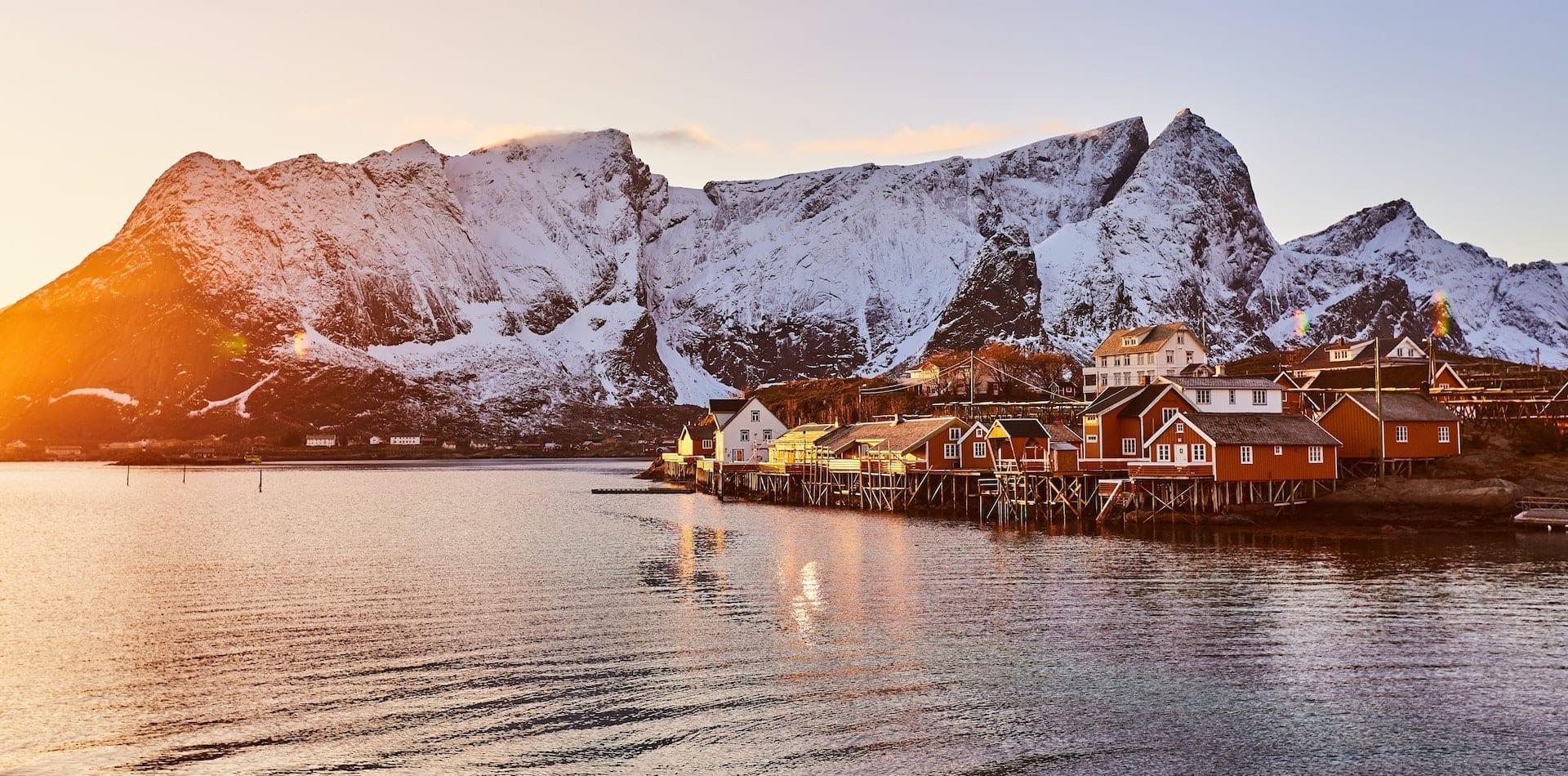 Hero Image Lofoten Islands at Sunset Norway