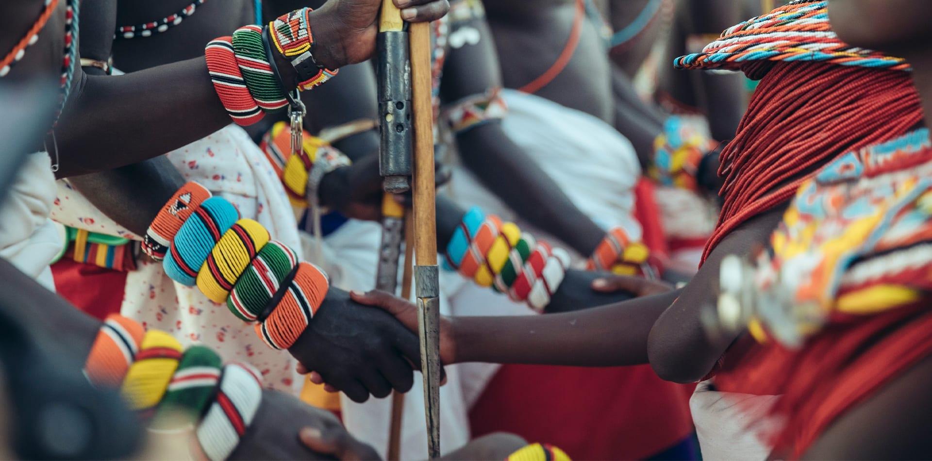 hand shake samburu warriors