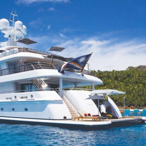 Modern stern exterior of Sea Rhapsody