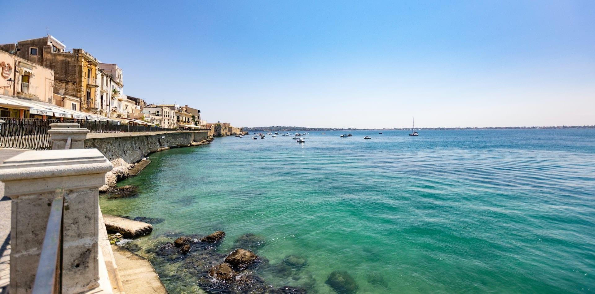 Hero imamge Syracuse Coastline Ocean Sicily Italy