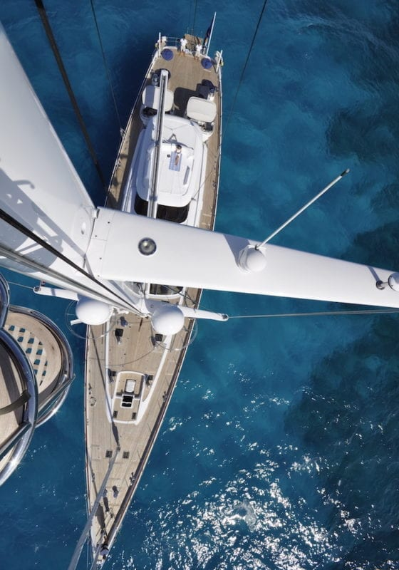 Hyperion Sailing Yacht Aerial View