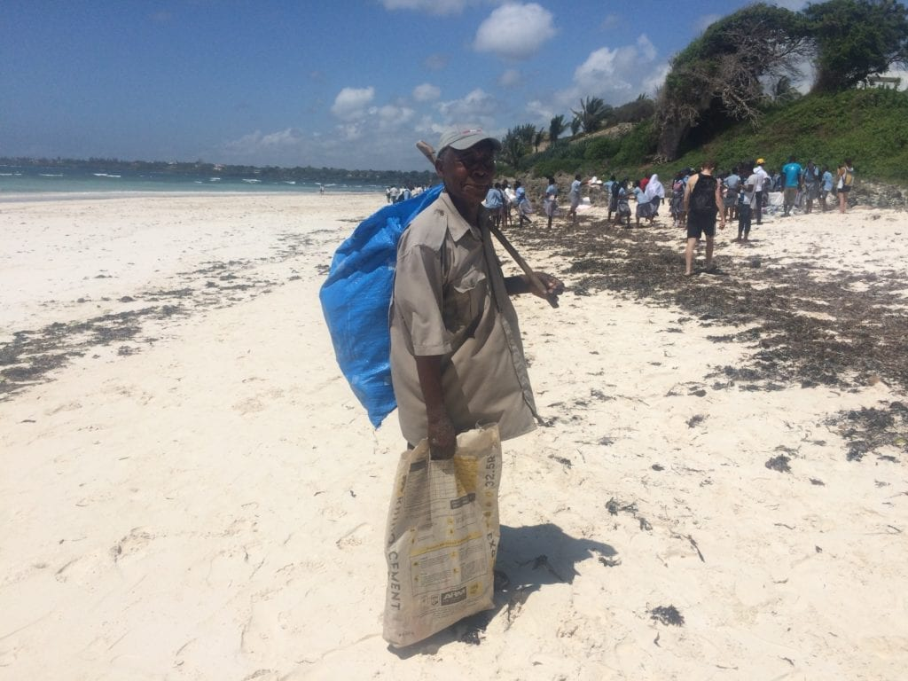 beach clean up kenya