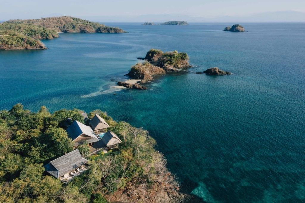 Islas Secas Aerial View Villas and Islands