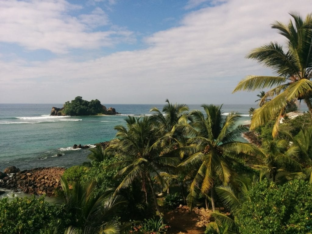 Island of the Coast of Mirissa in Sri Lanka