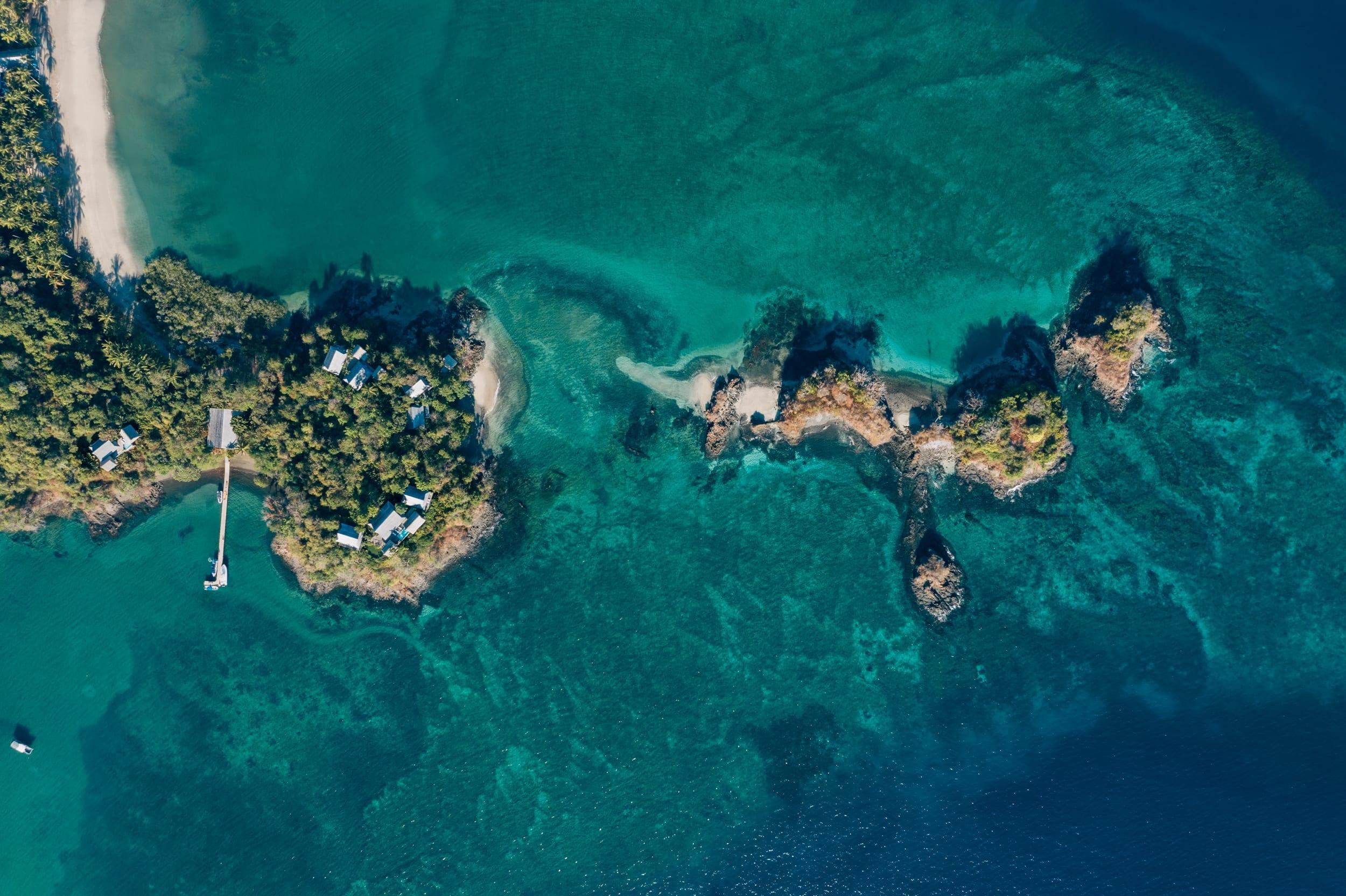Islas Secas Aerial View Villas and Islands Panama