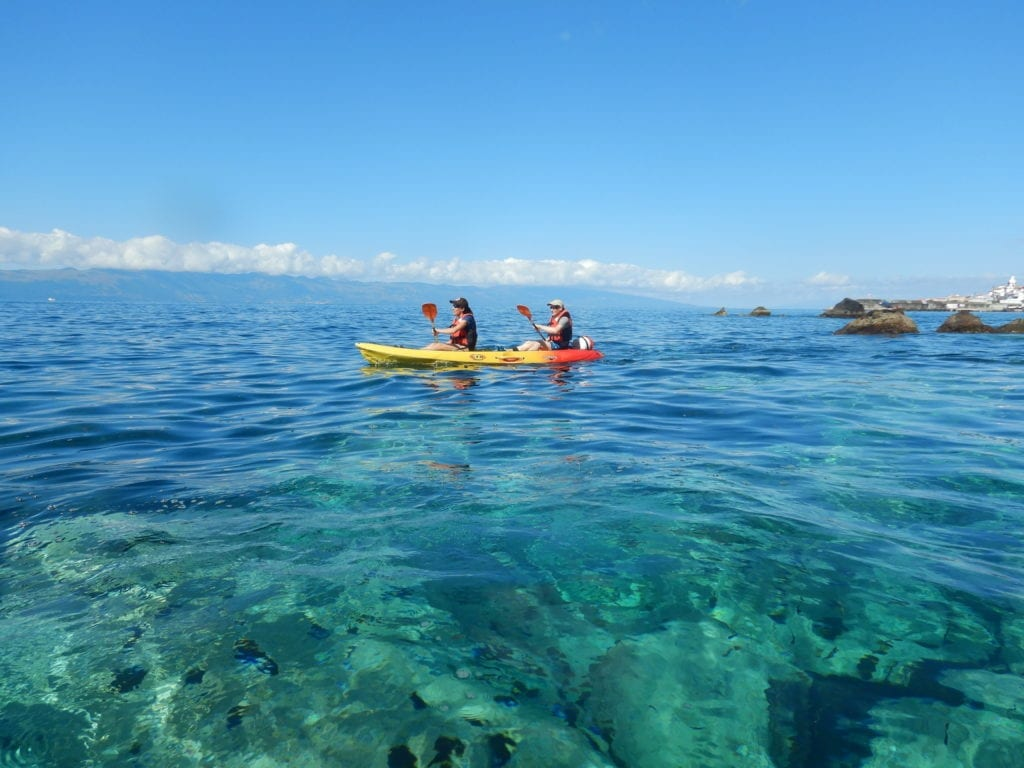 Kayaking in the Azores Islands